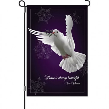 Peace is Beautiful Garden Flag