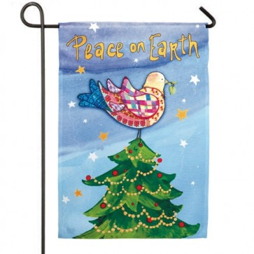 Peace on Earth Garden Flag