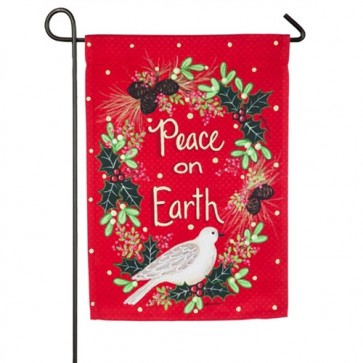 Peace, Comfort & Joy Garden Flag