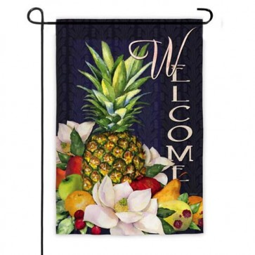 Pineapple and Magnolias Garden Flag