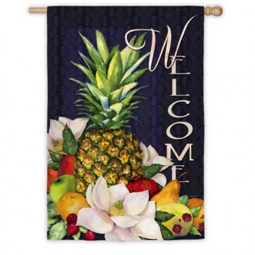 Pineapples and Magnolias House Flag