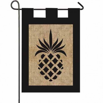 Pineapple  Burlap Garden Flag