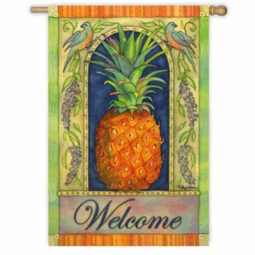 Pineapple Welcome House Flag