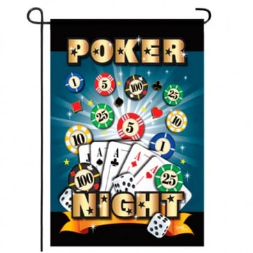 Poker Night Garden Flag