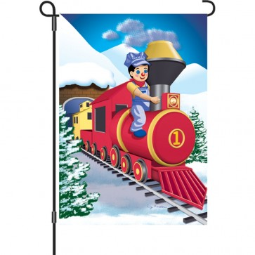 Polar Express Winter Garden Flag