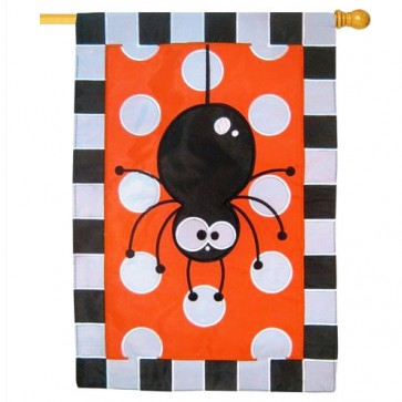 Polka Dot Spider House Flag