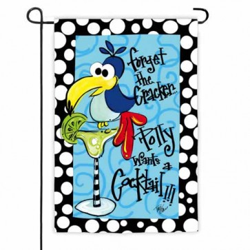 Polly Wants A Cocktail Garden Flag