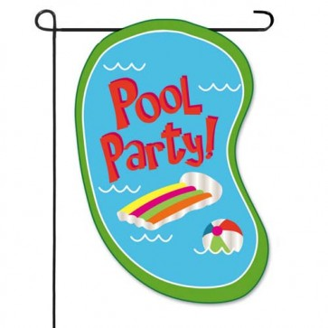 Pool Party    Garden Flag