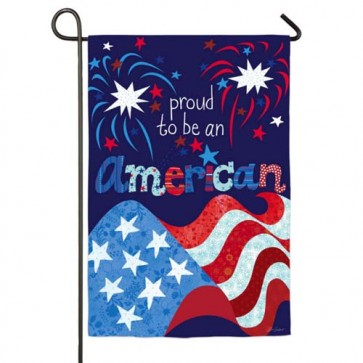 Proud to be an American Garden Flag