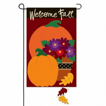 Pumpkin Harvest Garden Flag