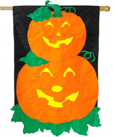 Pumpkin Stack House Flag   (CLOSEOUT)