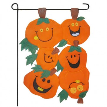 Pumpkins 3D Fall Garden Flag