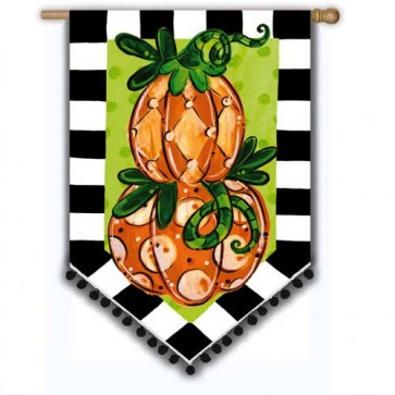 Tom's Pumpkin Topiary House Flag