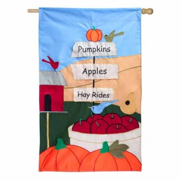 Pumpkins Apples Hayrides House Flag