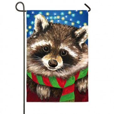 Raccoon  Scarf Garden flag