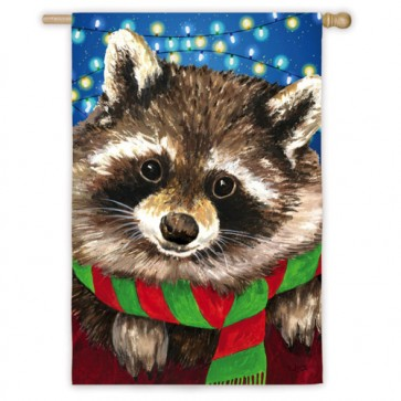 Raccoon  Scarf House flag