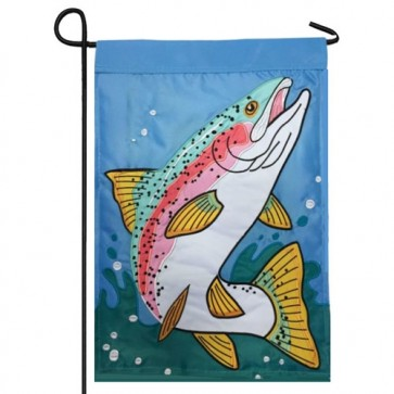 Rainbow Trout Garden Flag