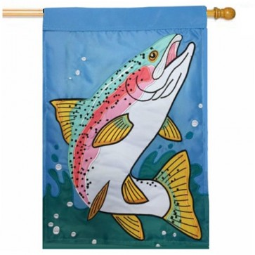 Rainbow Trout  House Flag
