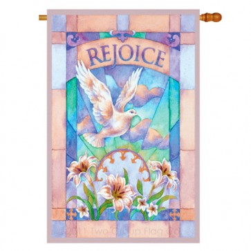 Rejoice Easter House Flag
