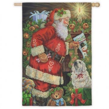 Santa Remembered Me House Flag