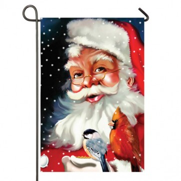 Santa's Little Friends Garden Flag