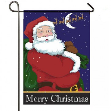 Santas' Night  Christmas Garden Flag