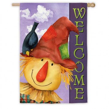 Scarecrow Sam House Flag