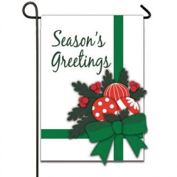 Season's Greetings Garden Flag