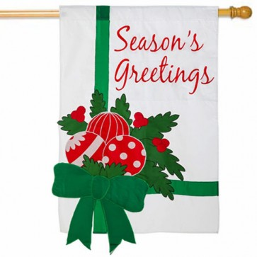 Season's Greetings Estate Sized Flag