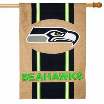 Seattle Seahawks  Burlap House Flag
