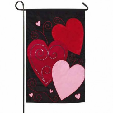 Sequin's Heart  Garden Flag