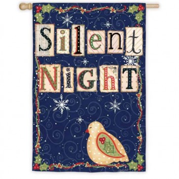 Silent Night House Flag (Different Sides)