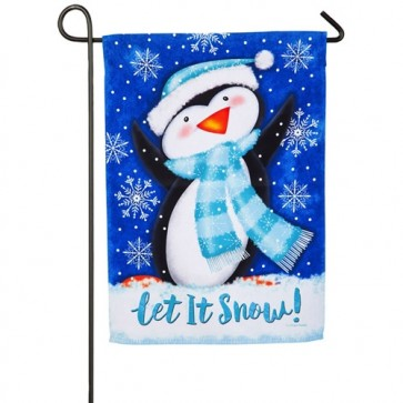Snow Penguin Winter  Garden Flag