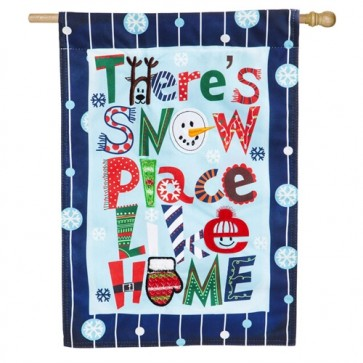 Snow Place Like Home Linen House Flag
