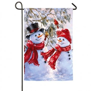 Snow Sweethearts Winter Garden Flag