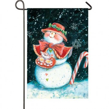 Snowlady Garden Flag  (Different Image on both sides)