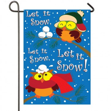 Snowy Owls Winter Garden Flag