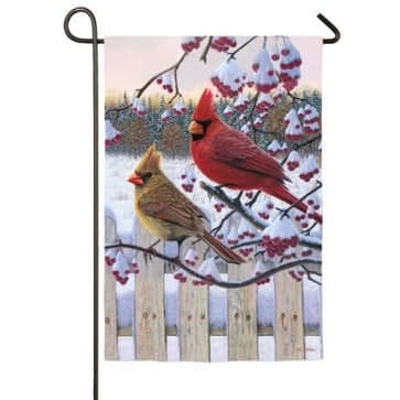 Songbird Winter Cardinals Garden Flag