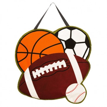 Sports Burlap Door Hanger