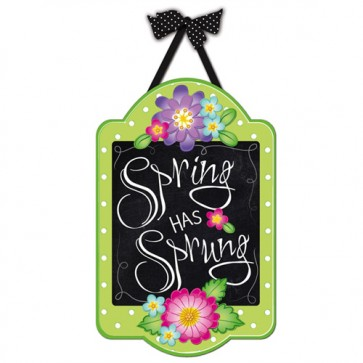 Spring Has Sprung Burlap Spring Door Greeter