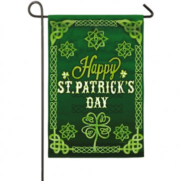 St Patrick's Day Celtic Garden Flag