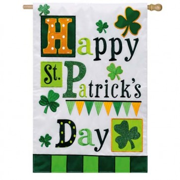 St. Patrick's Day Medley House Flag