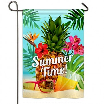Summer Beach Time Garden Flag