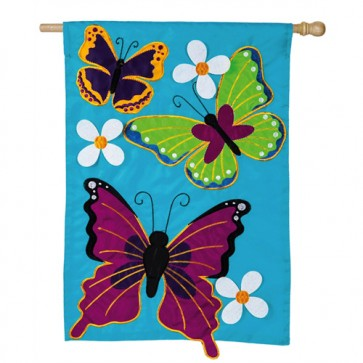 Summer Butterflies House Flag
