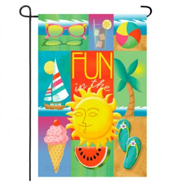Summer Collage Summer Garden Flag