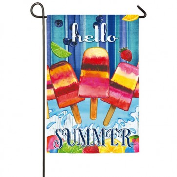 Summer Popsicles Garden Flag