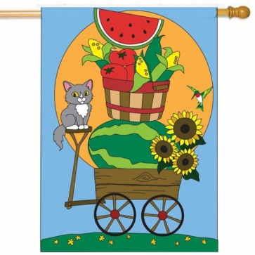 Summer Wagon House Flag