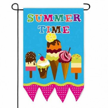 Summertime Ice Cream Garden Flag