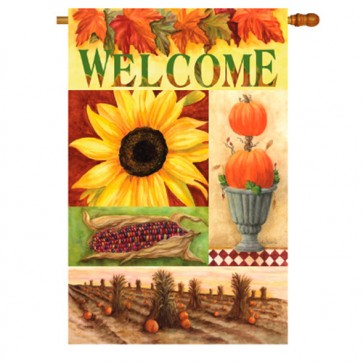 Sunflower Cottage House Flag