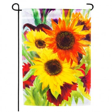 Sunflower Explosion Garden Flag